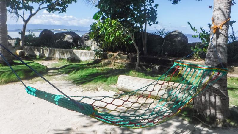 ナルスアン島内のハンモック