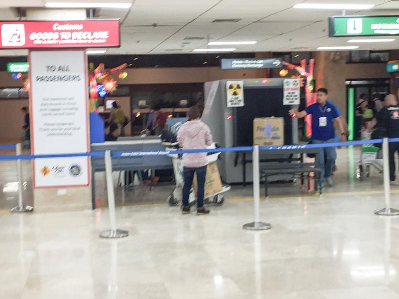 セブ空港の税関
