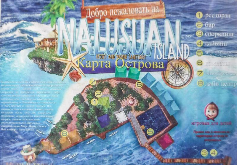 ナルスアン島の鳥瞰図