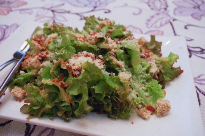 シャトーデブサイのサラダの写真