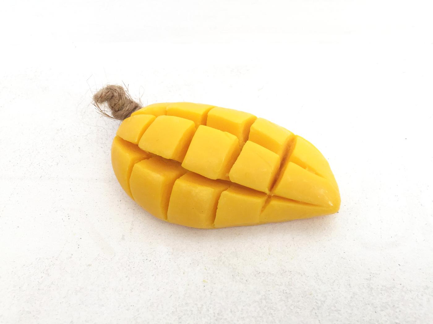 マンゴー型石鹸の写真