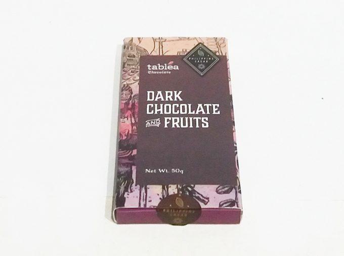 タブレアチョコレートのダークチョコレートフルーツの写真