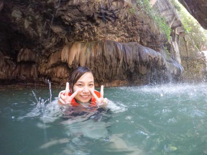 ダイナミックツアーの洞窟での写真