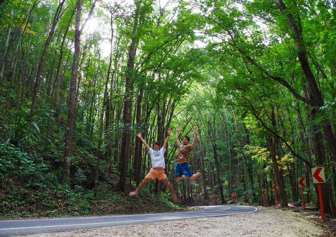 ボホール島でのジャンプ