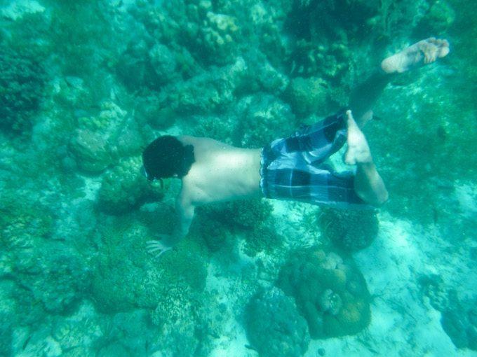 ヒルトゥガン島での素潜り