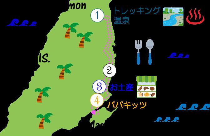 ダイナミックツアーの地図