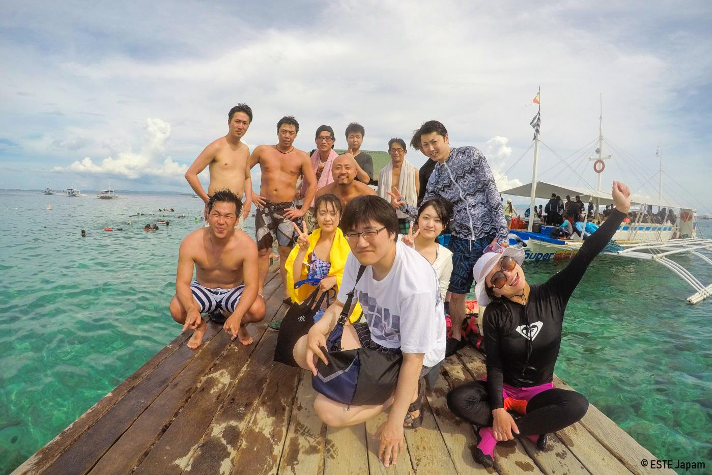 日本人ガイドを利用してアイランドホッピングに行った団体