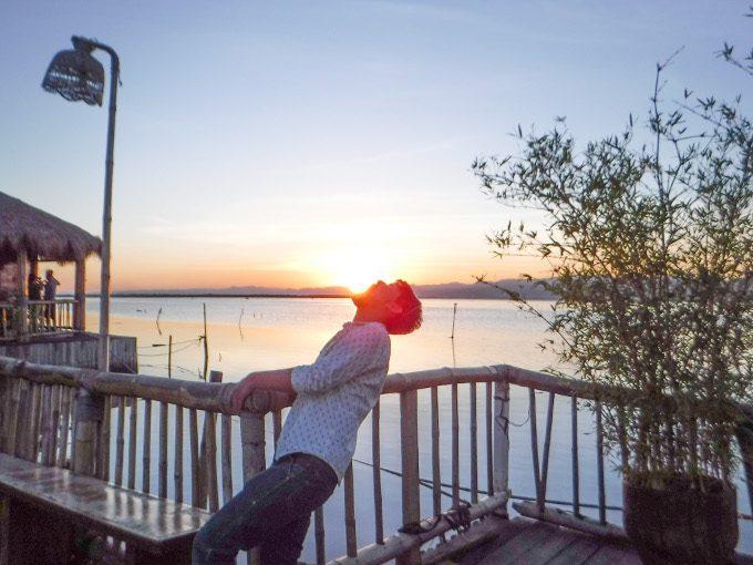 ランタオでの夕焼けの写真