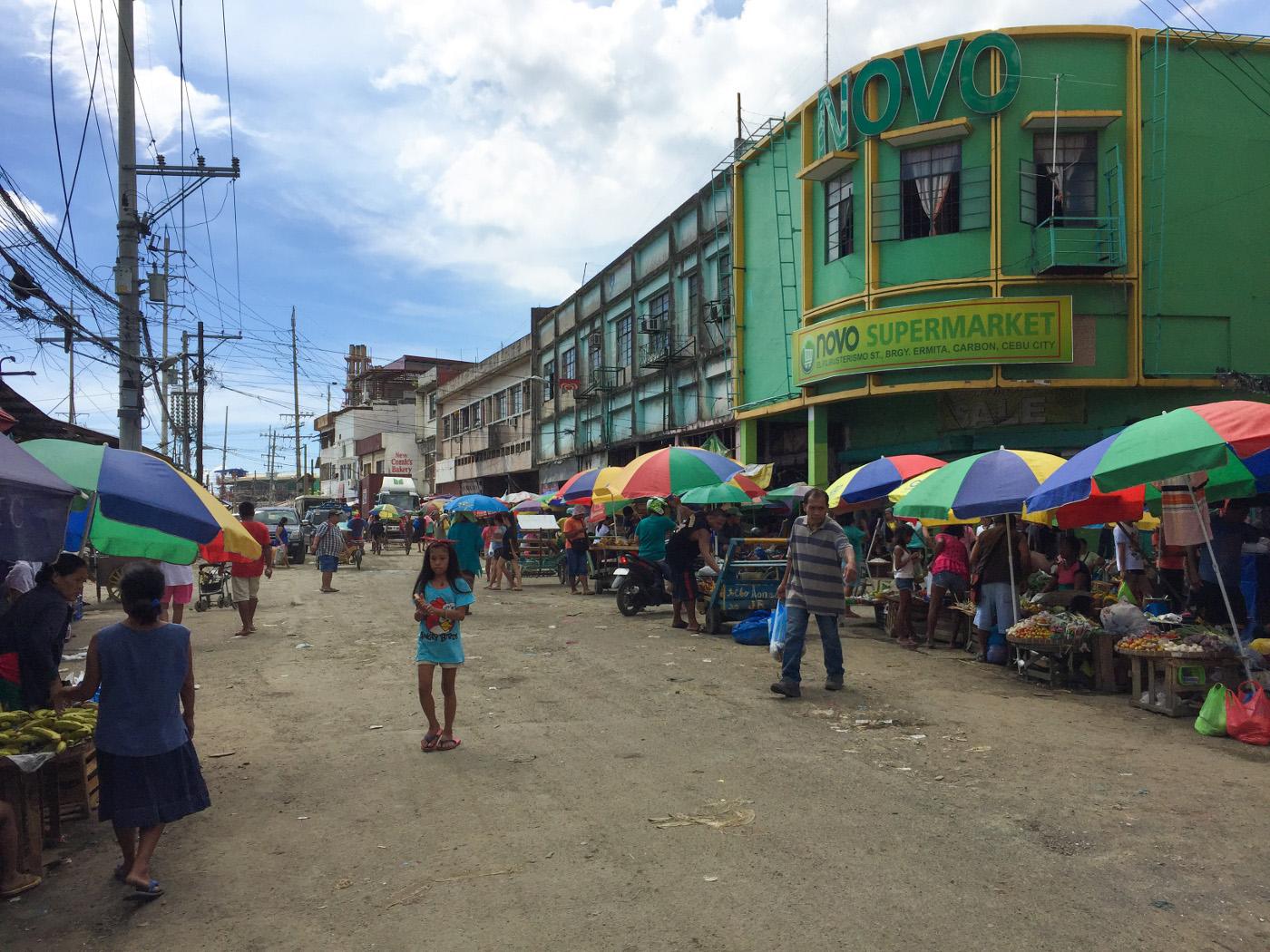 カルボンマーケットの路面が分かる写真