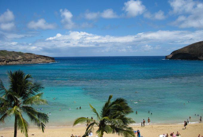 ハワイの海の写真