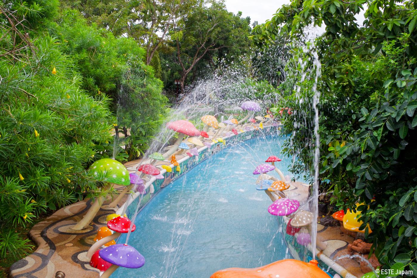 Jパークホテルの流れるプール