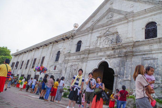 サントニーニョ教会での記念写真