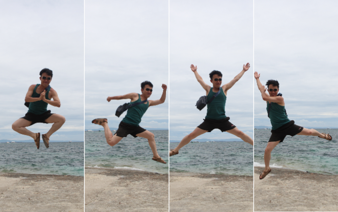 韓流アイランドホッピングでジャンプさせられているイメージができる画像