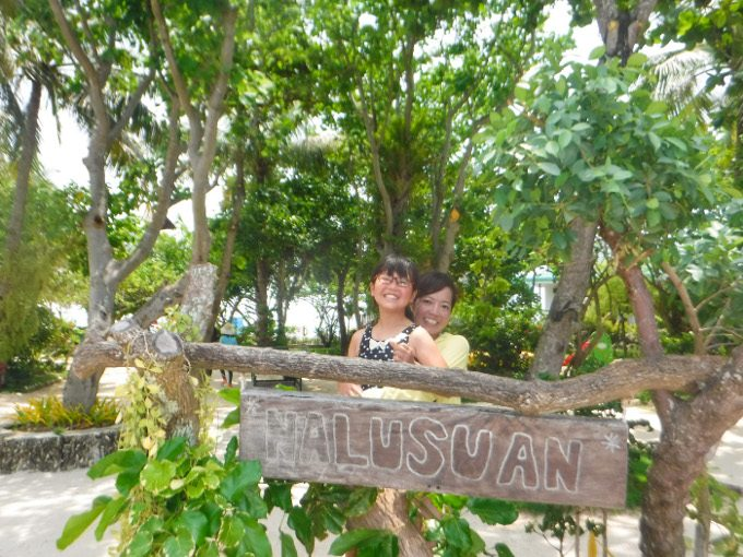 ナルスアン島での記念写真