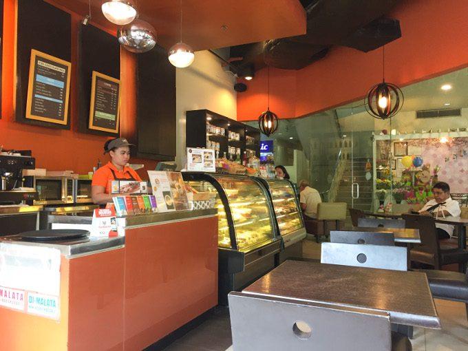 タブレアカフェの店内の写真