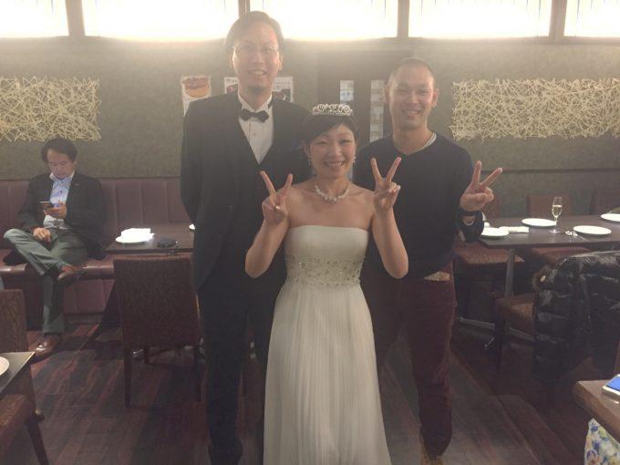 結婚式に招待された時の写真