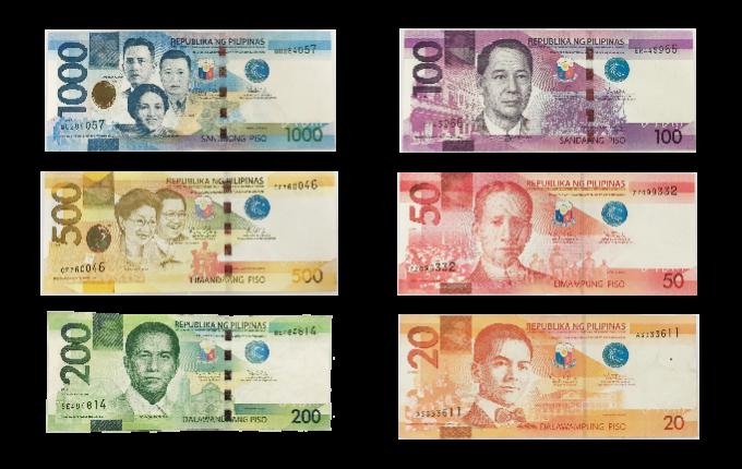 2010年以降の新紙幣6種類の画像