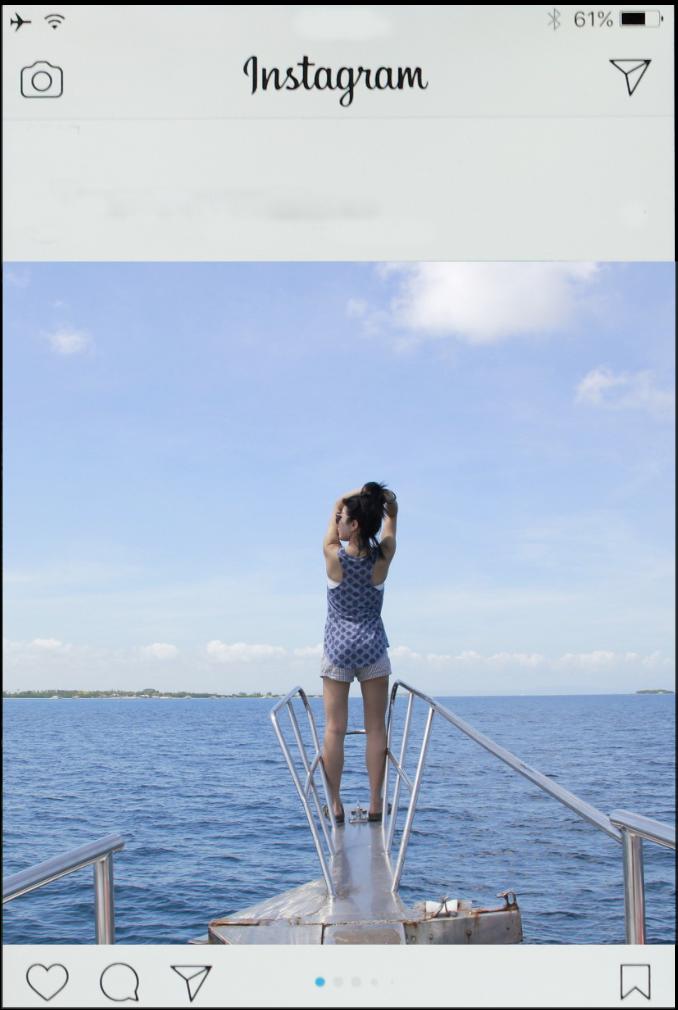 船首でのタイタニック的写真