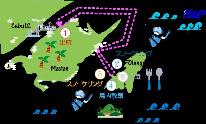 セレブアイランドホッピングの行程表の画像