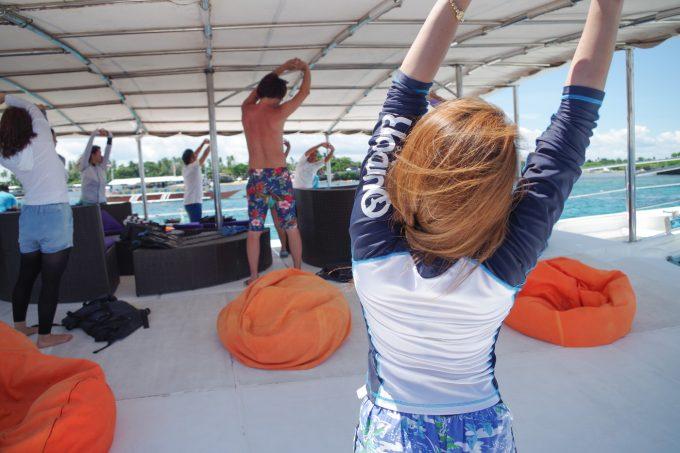 ドリームオブセブの準備体操の写真