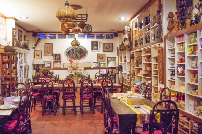 アバセリアカフェの内装の写真