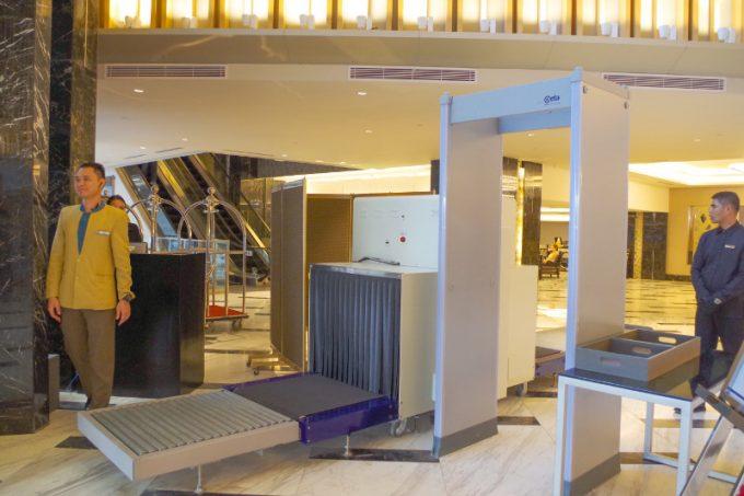 バイホテルのセキュリティーチェックの写真