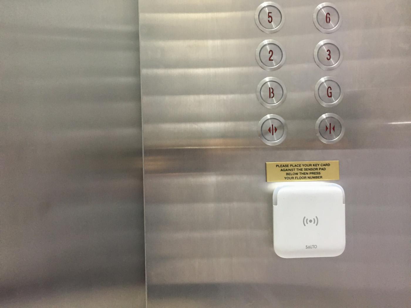バイホテルのエレベーター内の写真