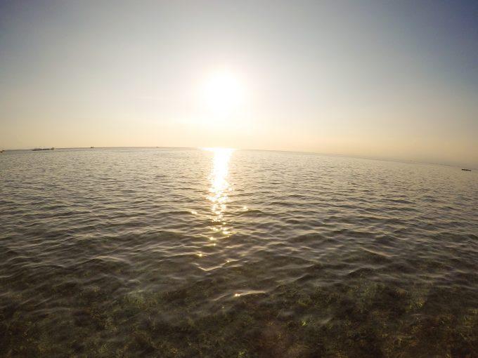 サンセットホッピングの夕焼けの写真
