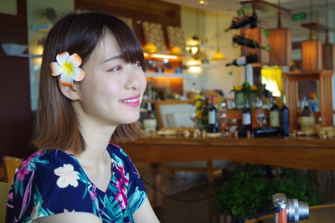 シャングリラホテルのレストランでの記念写真