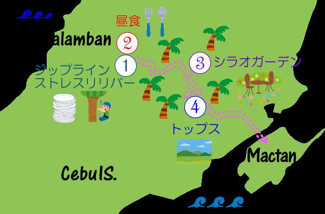ストレスフリーツアーの地図の画像