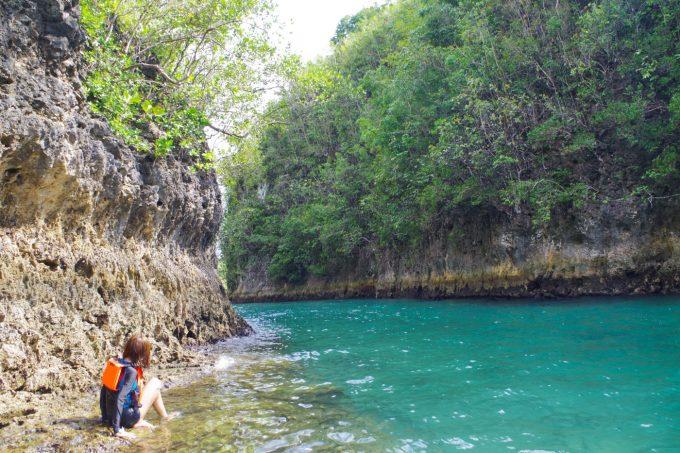 ボホリバーの河口の岩場