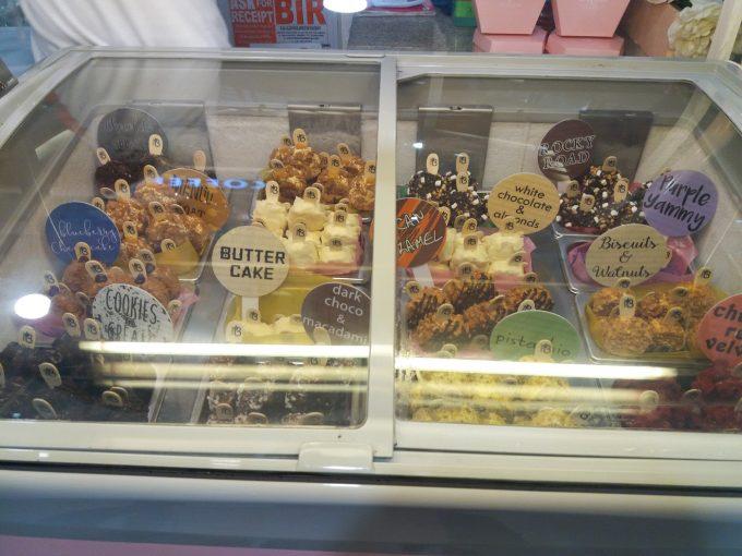 SMセブシティーのアイスケーキ売場