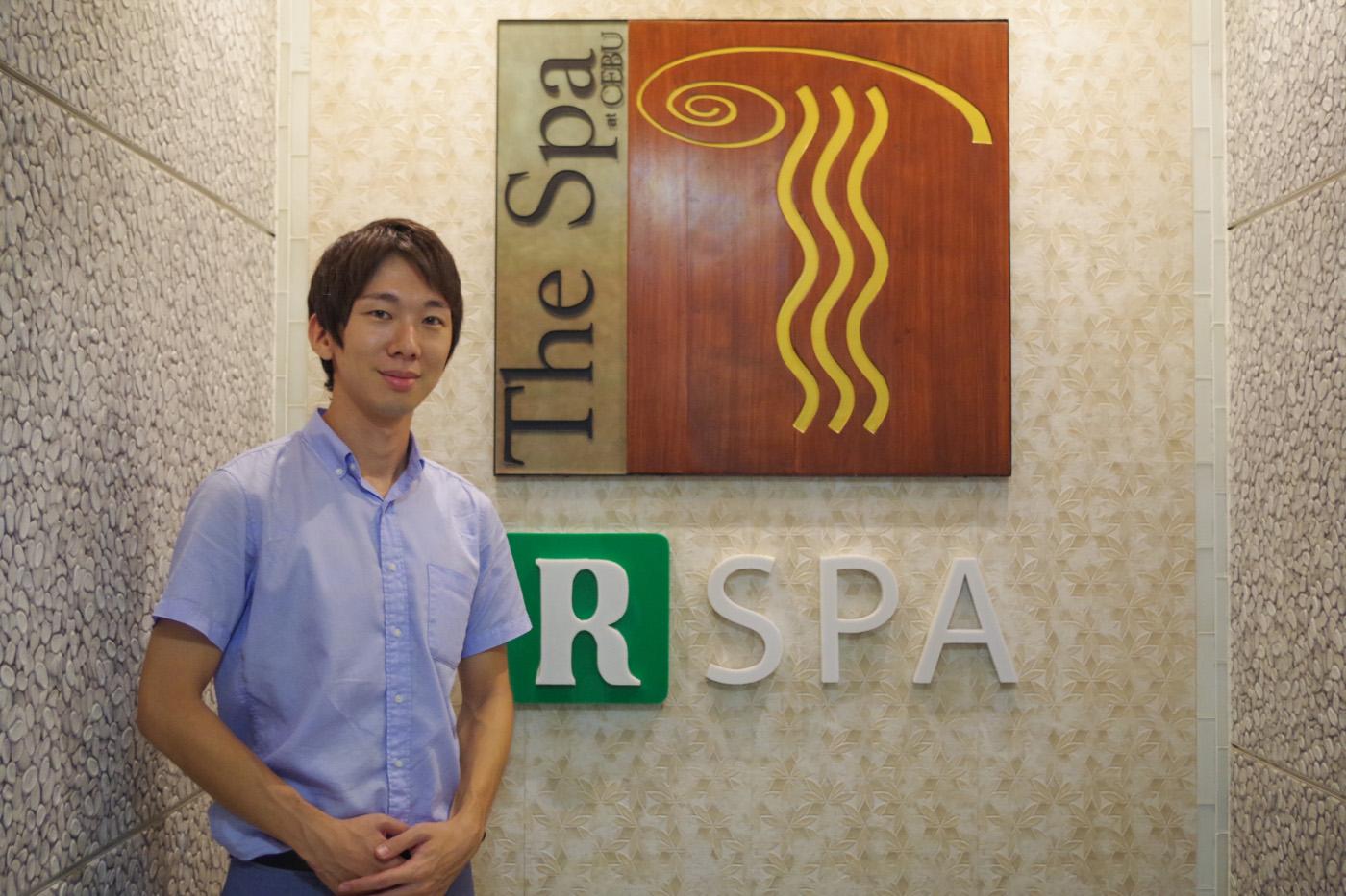 ザ・スパの日本人マネージャーの男性