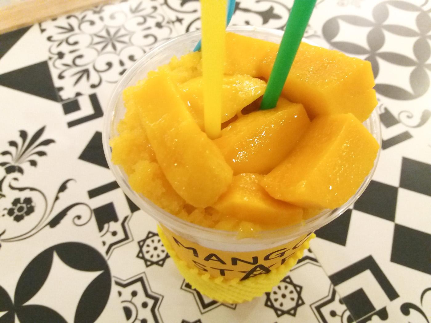 マンゴースターのマンゴーシェイクのマンゴー