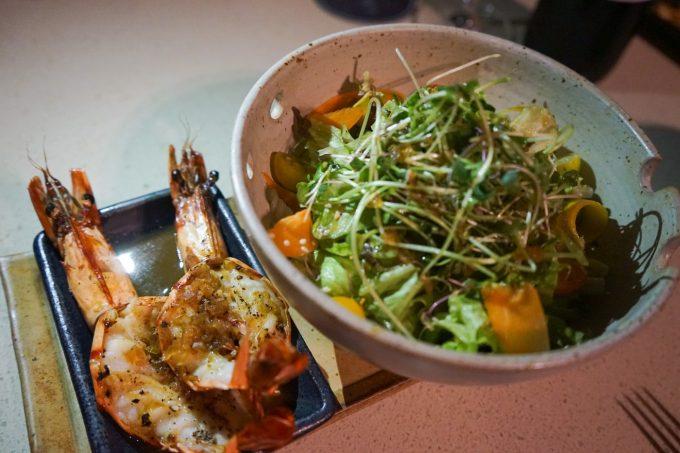 アズールビーチクラブのサラダ