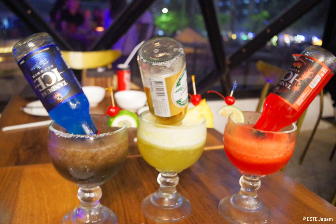 レストラン・ピラミッドのカクテル3種類