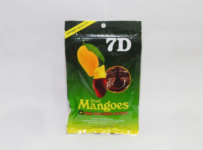 7Dのチョコ掛けマンゴー