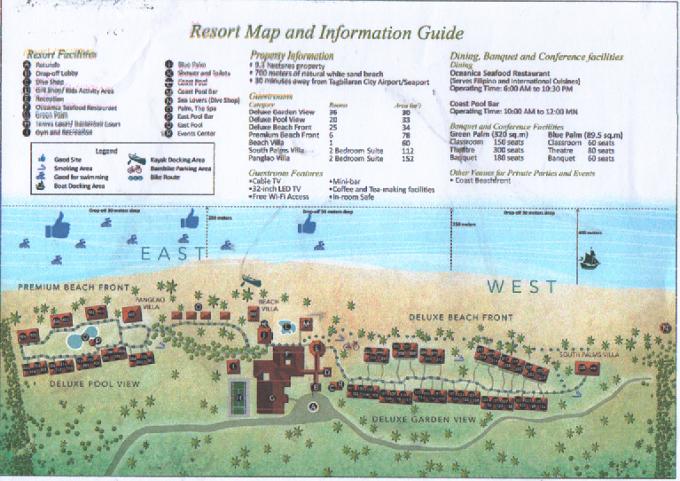 サウスパームホテルの簡易マップ