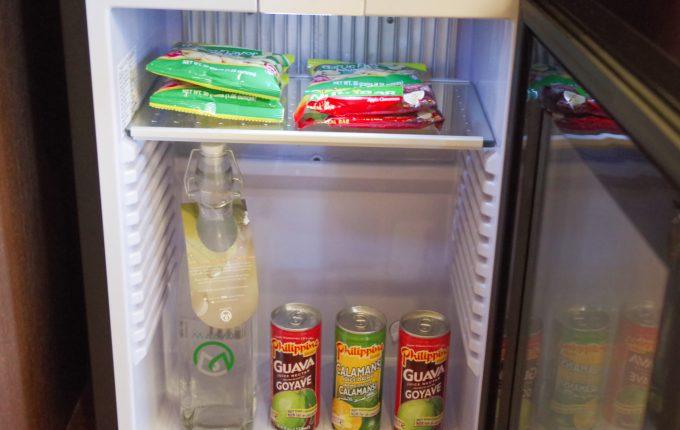 マアヨホテルの冷蔵庫内