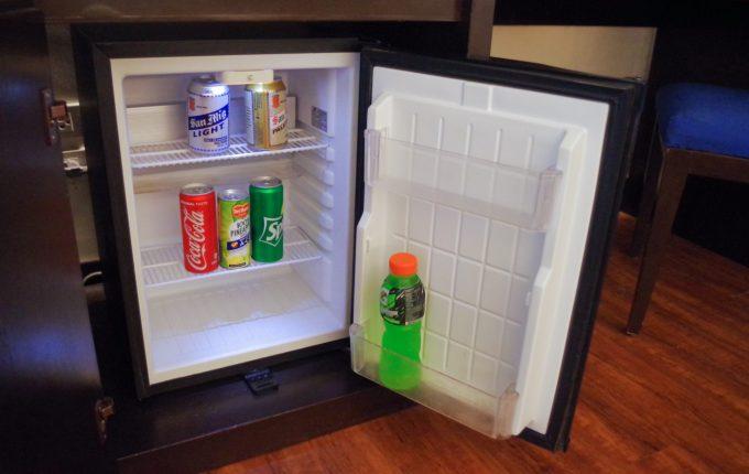 サウスパームホテルの冷蔵庫の中