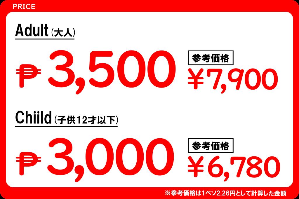 セブピクニックツアーの価格2019年