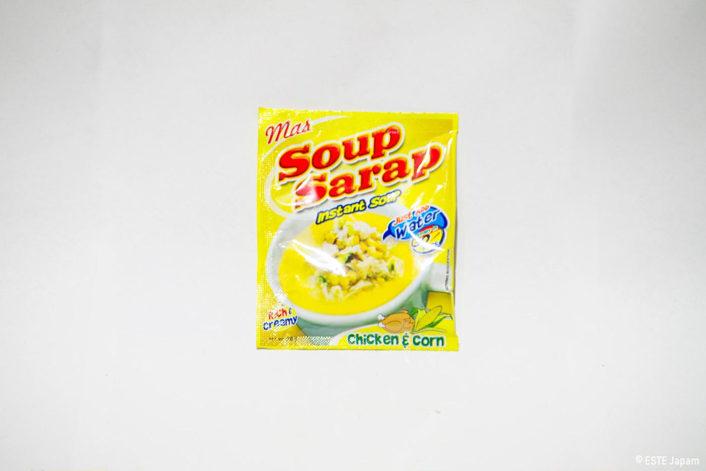 インスタントスープのチキン&コーン味