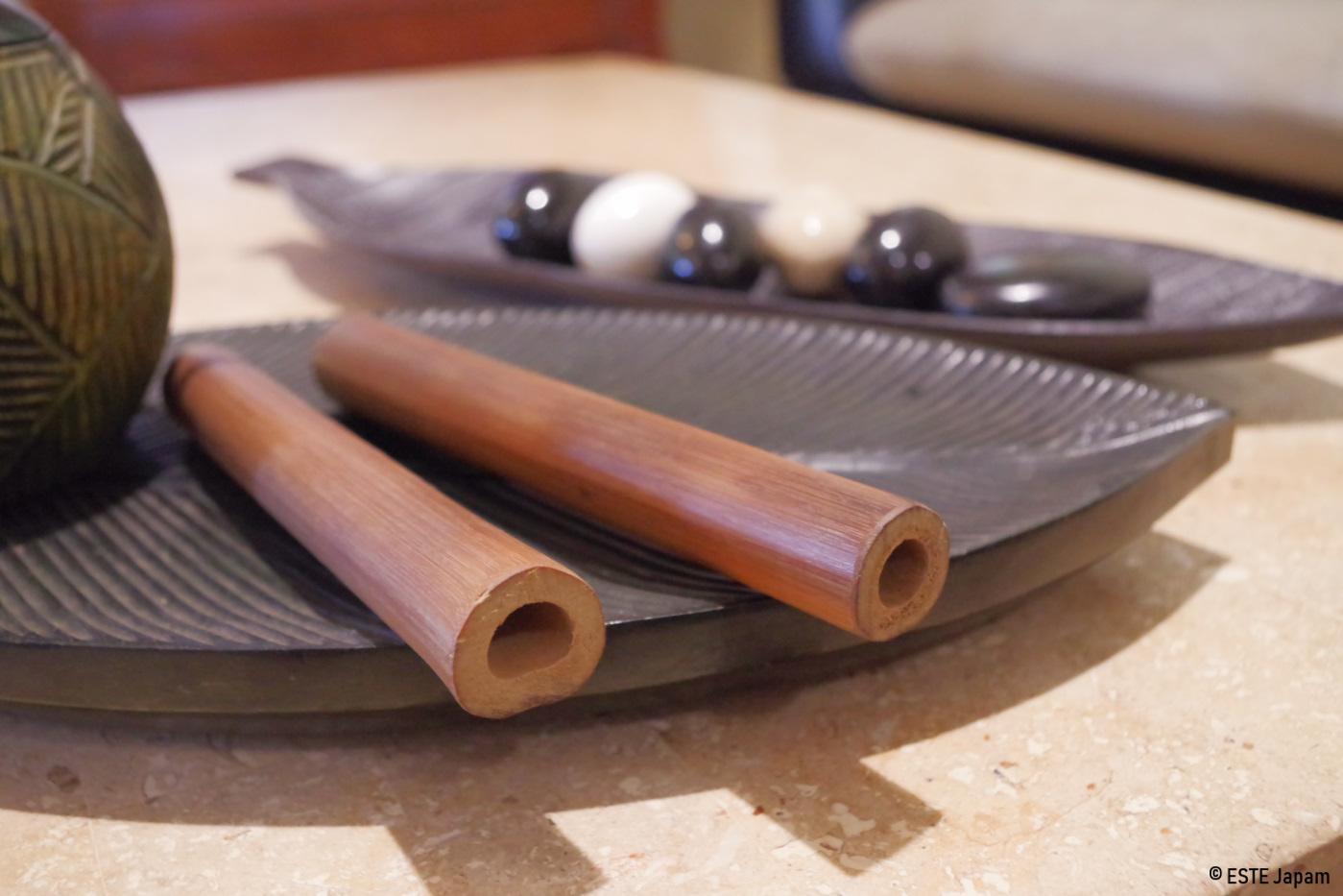 マリガヤスパのバンブーマッサージの道具