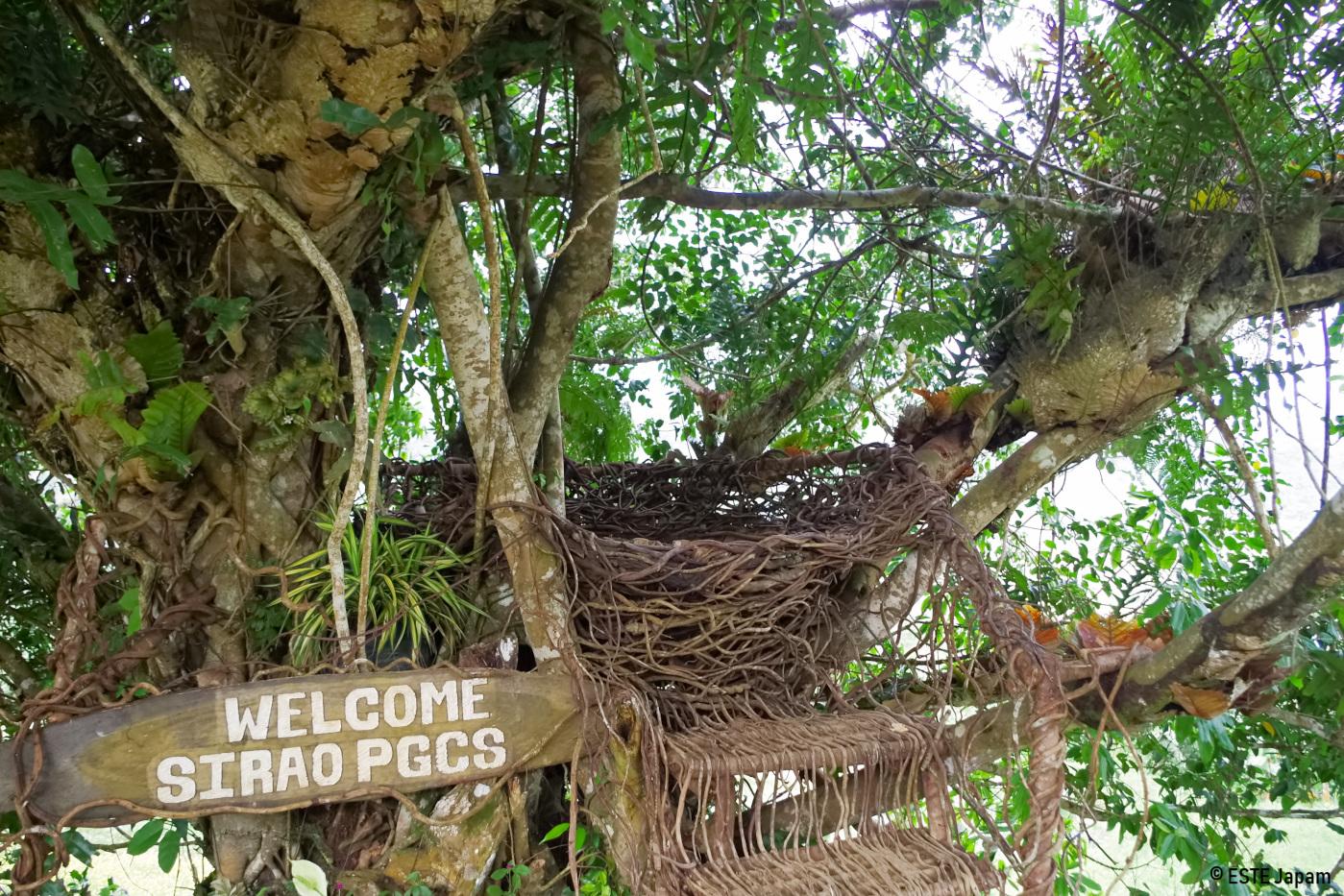 シラオPGCSの鳥の巣のモニュメント