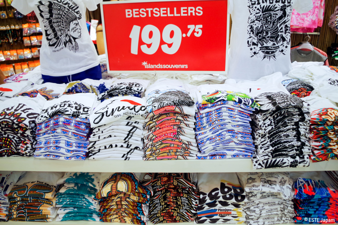 アイランドスーベニアのTシャツ売場