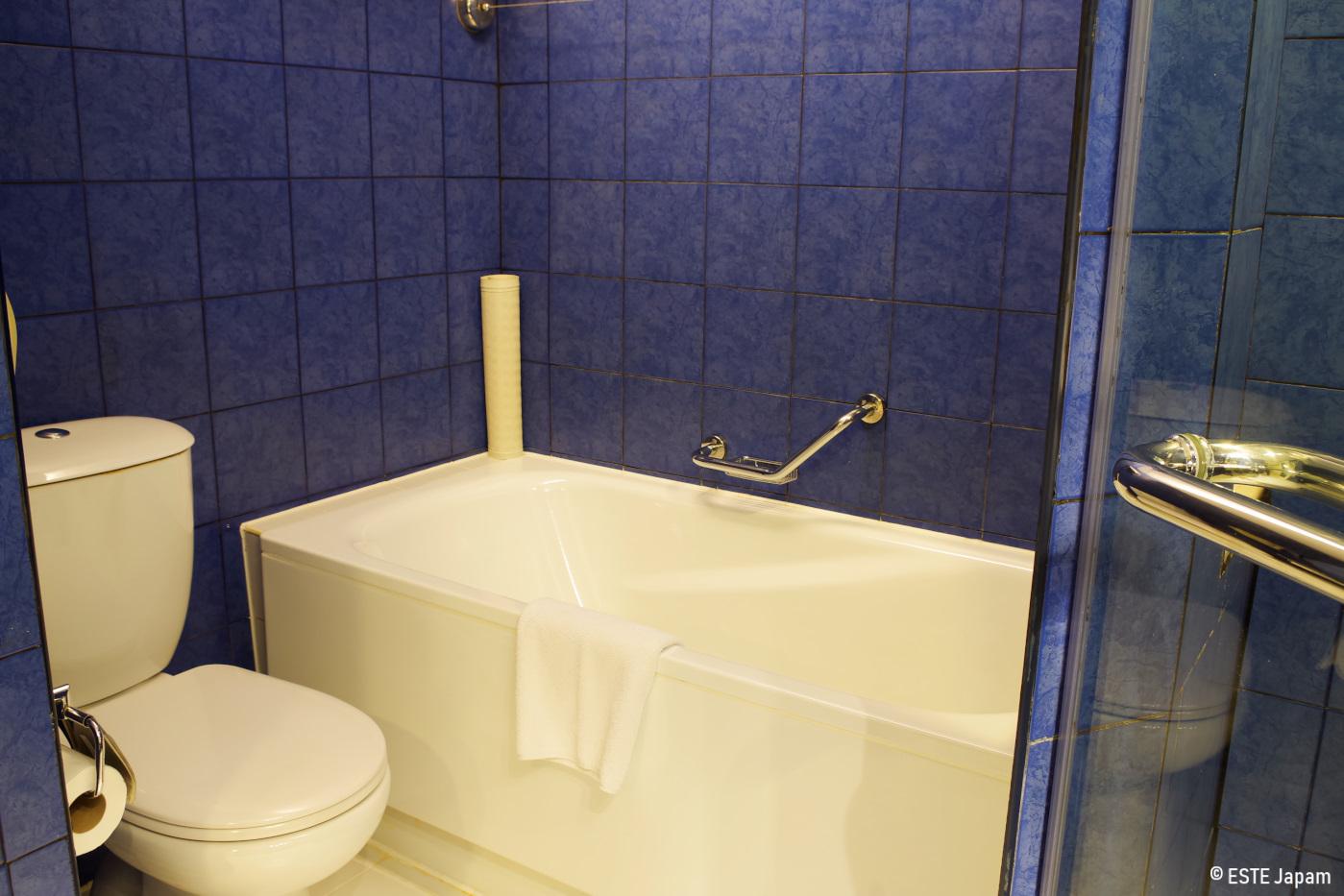 モーベンピックホテルのバスタブとトイレ