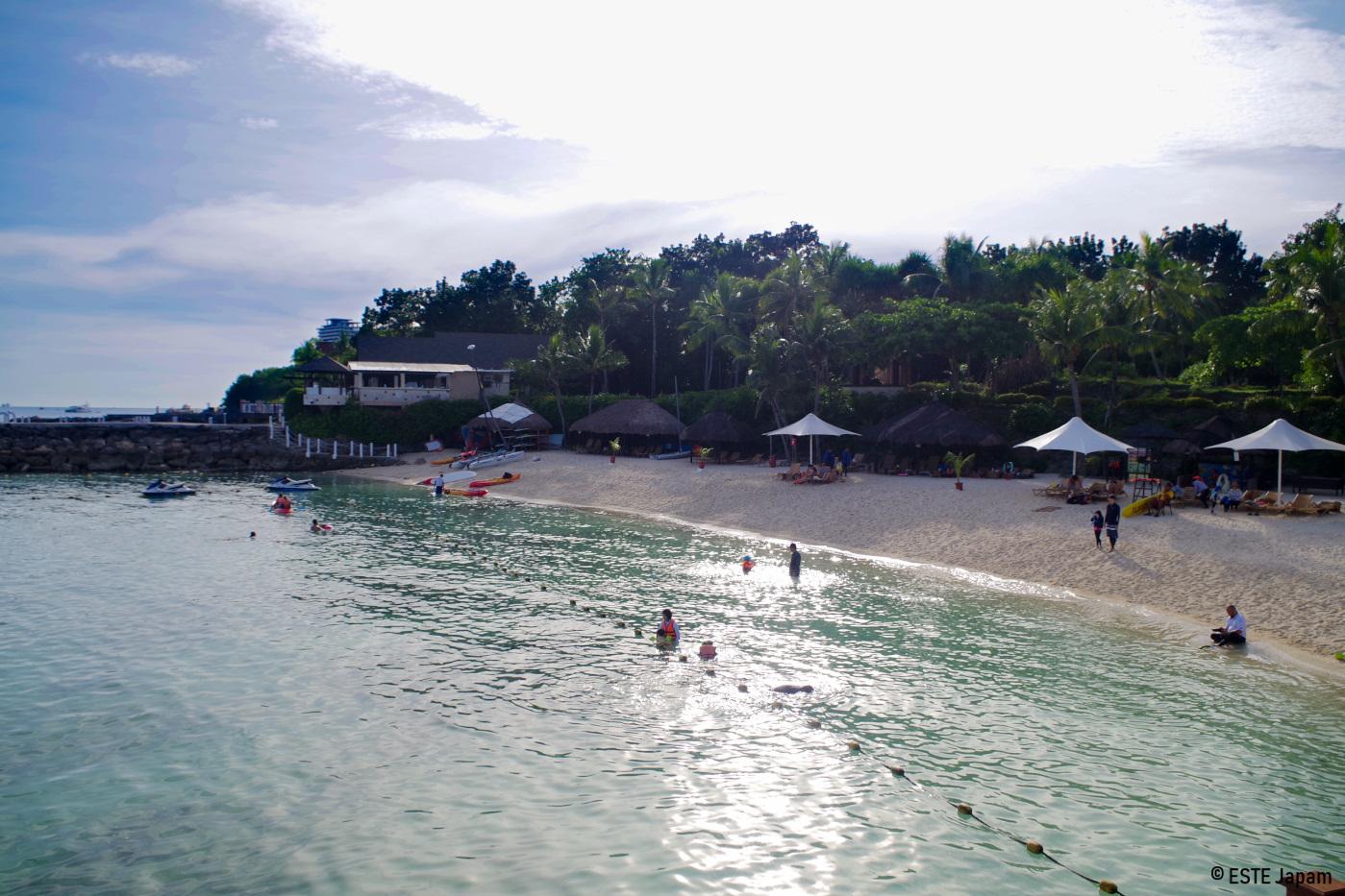 シャングリラホテルのビーチ