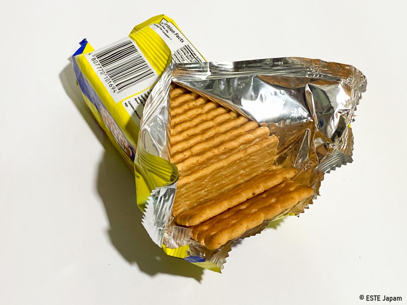 バターココナッツの包装
